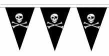Skull & Crossbones Traditional 20m 50 Flag Polyester Triangle Flag Bunting
